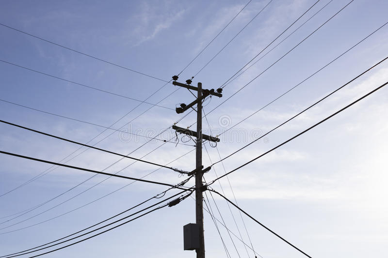 Power Pole and Wires stock image. Image of vertical, powerlines ...