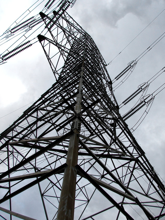 Power pylon royalty free stock photography