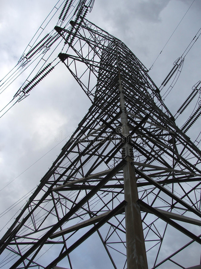 Power pylon royalty free stock photo