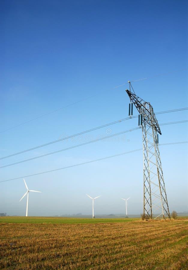 Power pylons royalty free stock photo