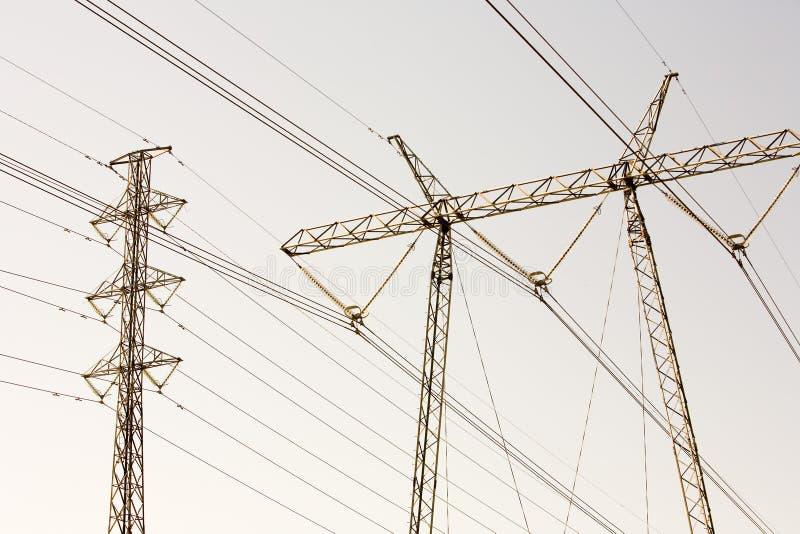 Power Pylons royalty free stock image
