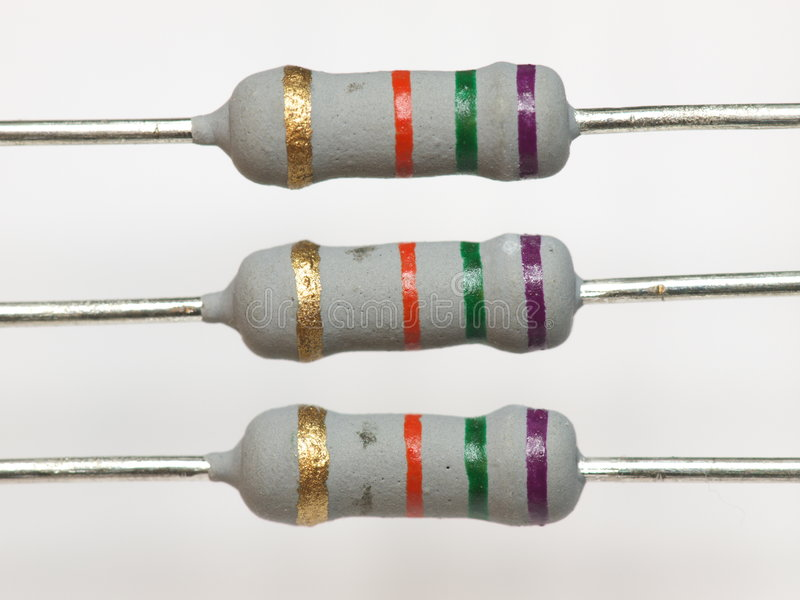 Download Power Resistors stock image. Image of closeup, tiny, colourful - 8544635