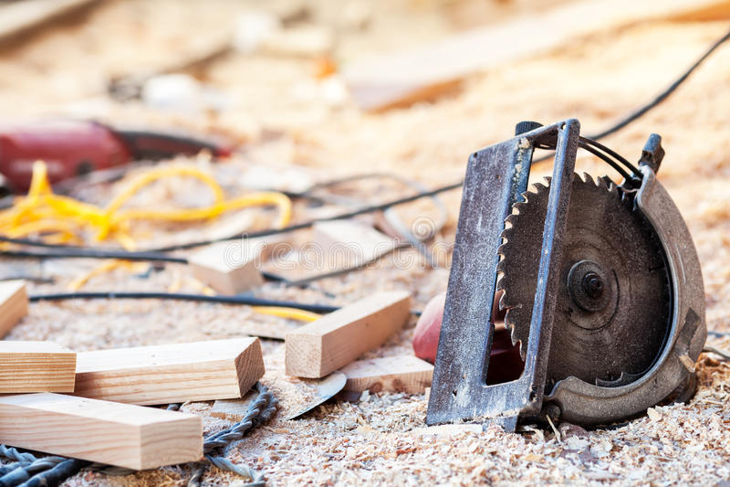Power saws circular stock photography