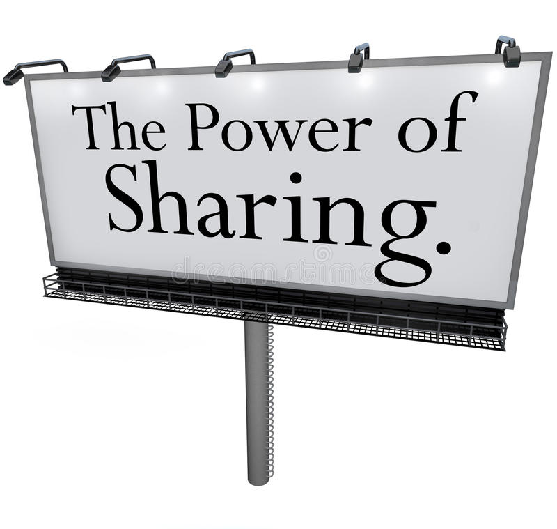 The Power of Sharing Billboard Message Donate Give Help Others stock illustration