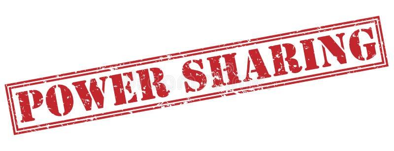 Power sharing stamp stock illustration