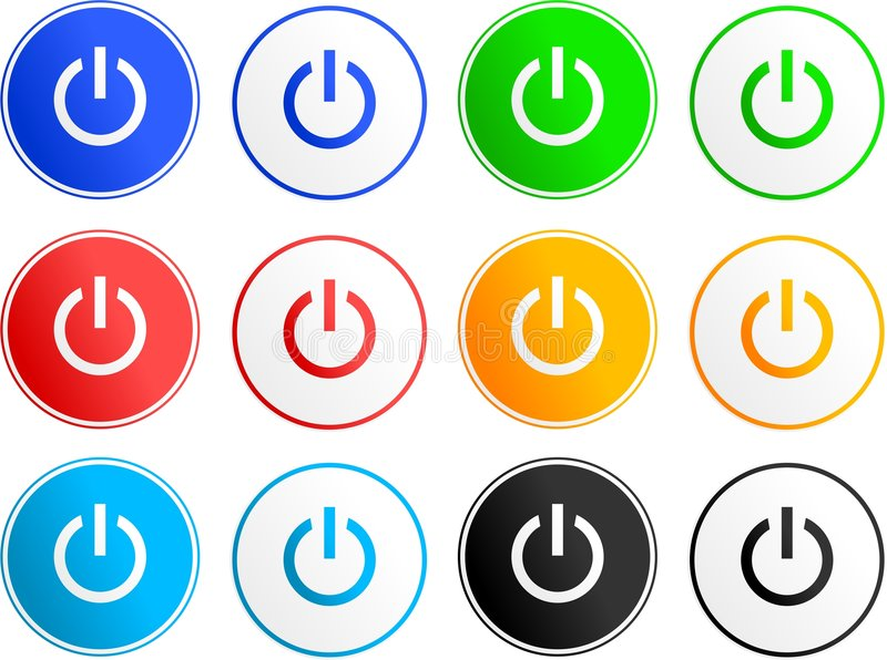 Download Power sign icons stock vector. Illustration of circles - 3239263
