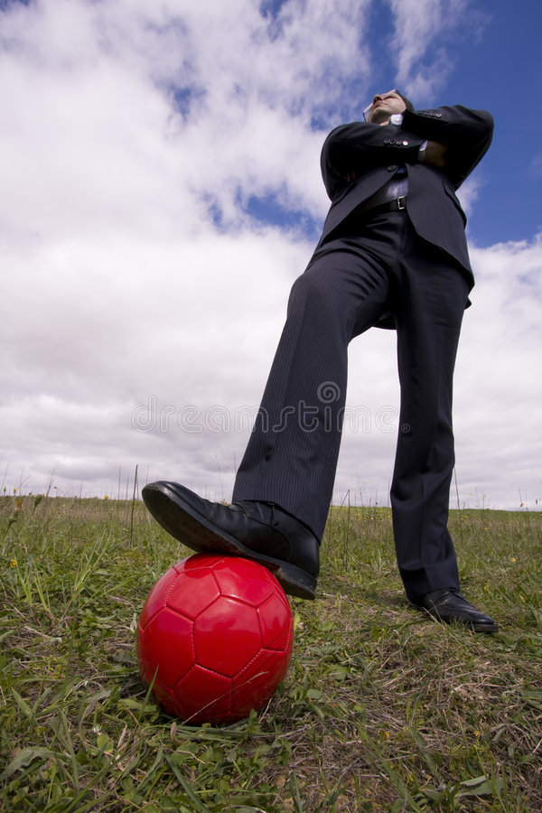 The power of soccer game royalty free stock photography