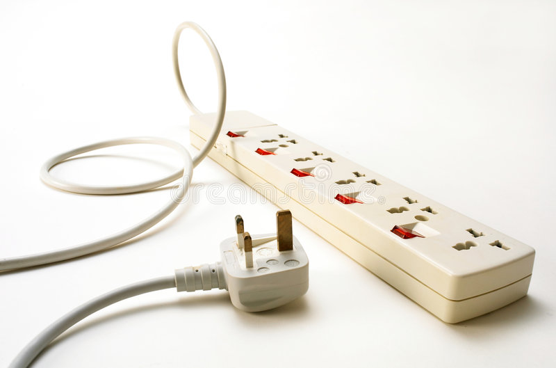 Power socket and plug stock photography