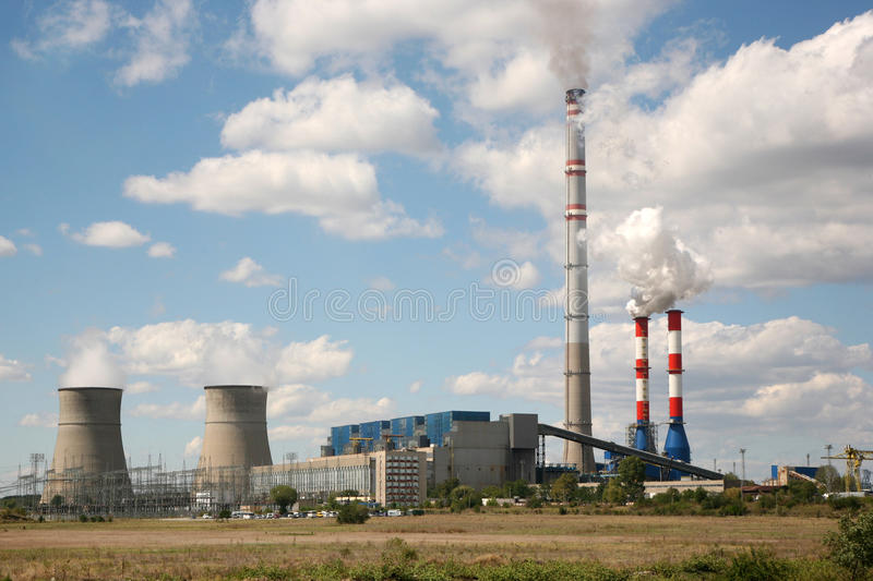 Power station. Electric power generator energy station stock photos
