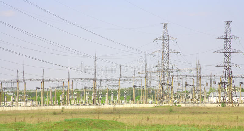 Download Power Station stock photo. Image of pylon, high, line - 10149468