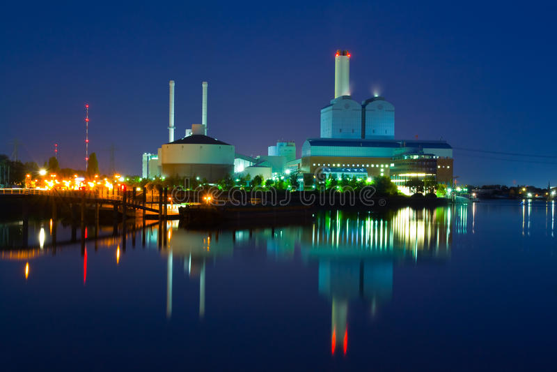 Download Power station stock image. Image of lake, dusk, building - 10979261