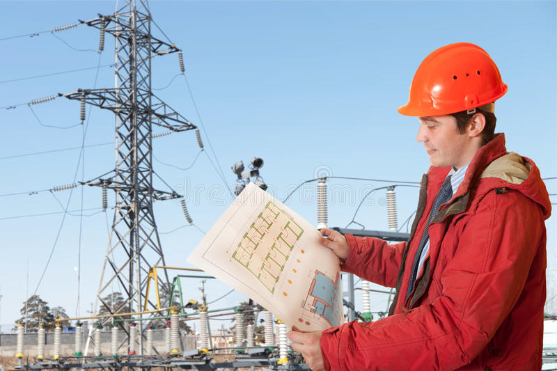Download Power station stock image. Image of pole, male, iron - 14543241