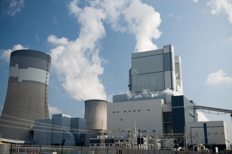 Power station in Belchatow. Surface coal mining and power staion in Belchatow, Poland royalty free stock photo