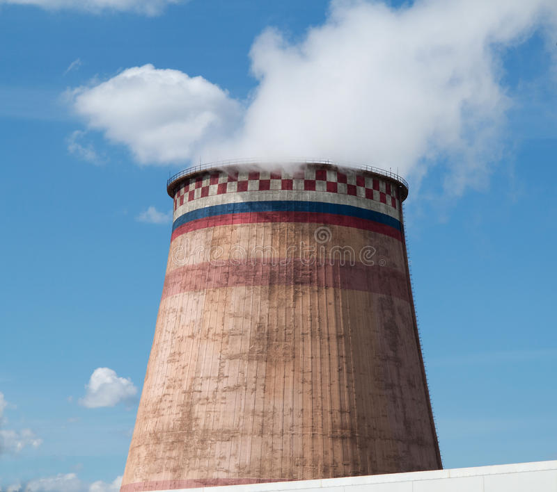 Power station cooling tower. Moscow , Russia stock photo