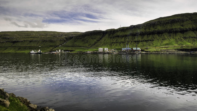 Power Station that lights up the Capital City of the Faroe islands, Denmark, Europe stock photos