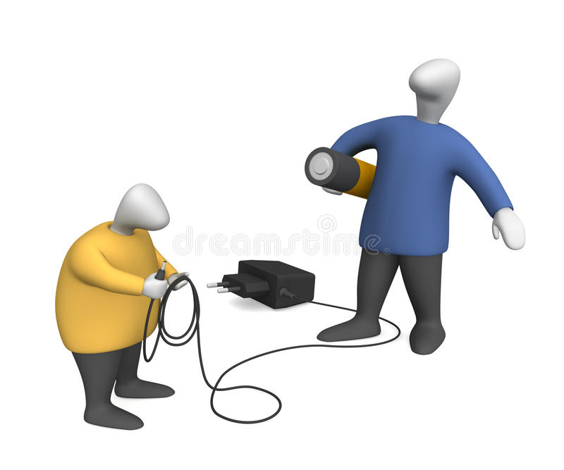 Power-supply source royalty free stock photo