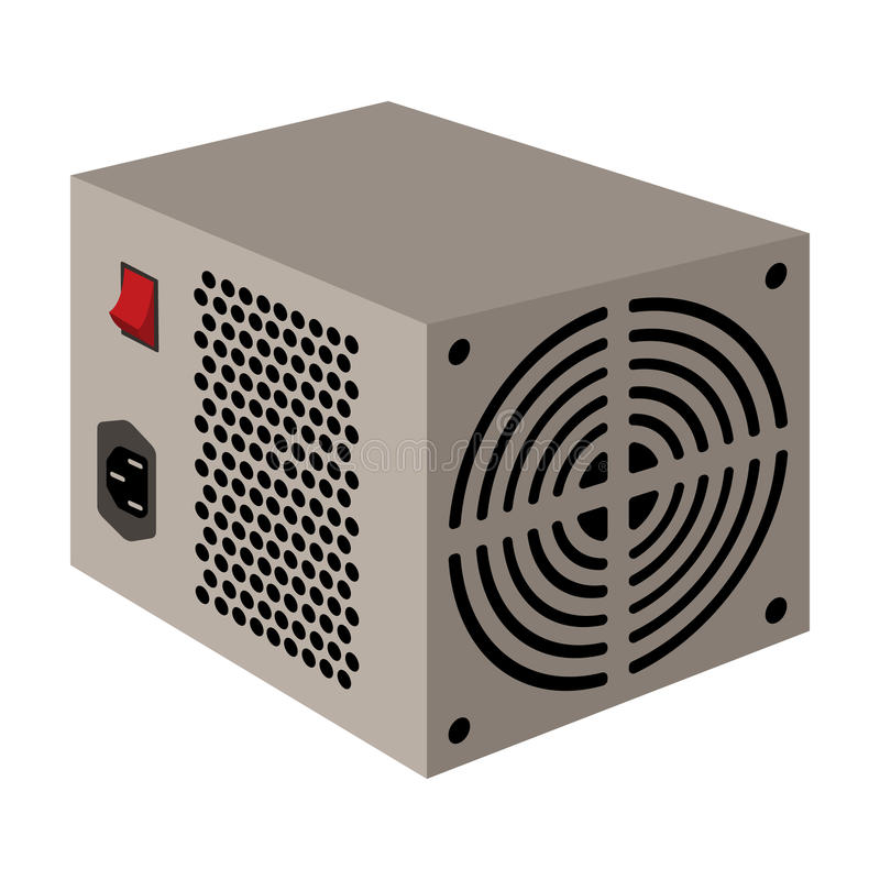 Power Supply Unit Icon In Cartoon Style Isolated On White Background ...