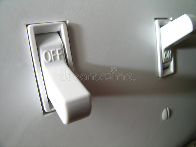 Power Switch royalty free stock image