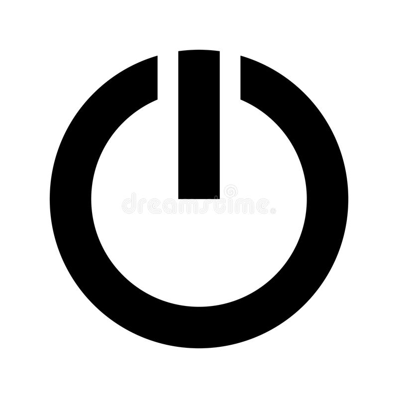 Power Symbol stock vector. Illustration of control, electricity ...
