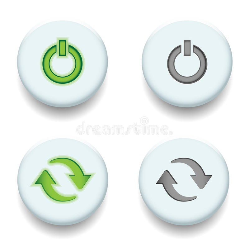 Power and sync stock illustration