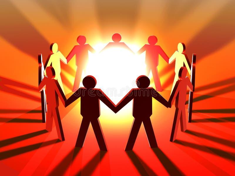 Power of Teamwork vector illustration
