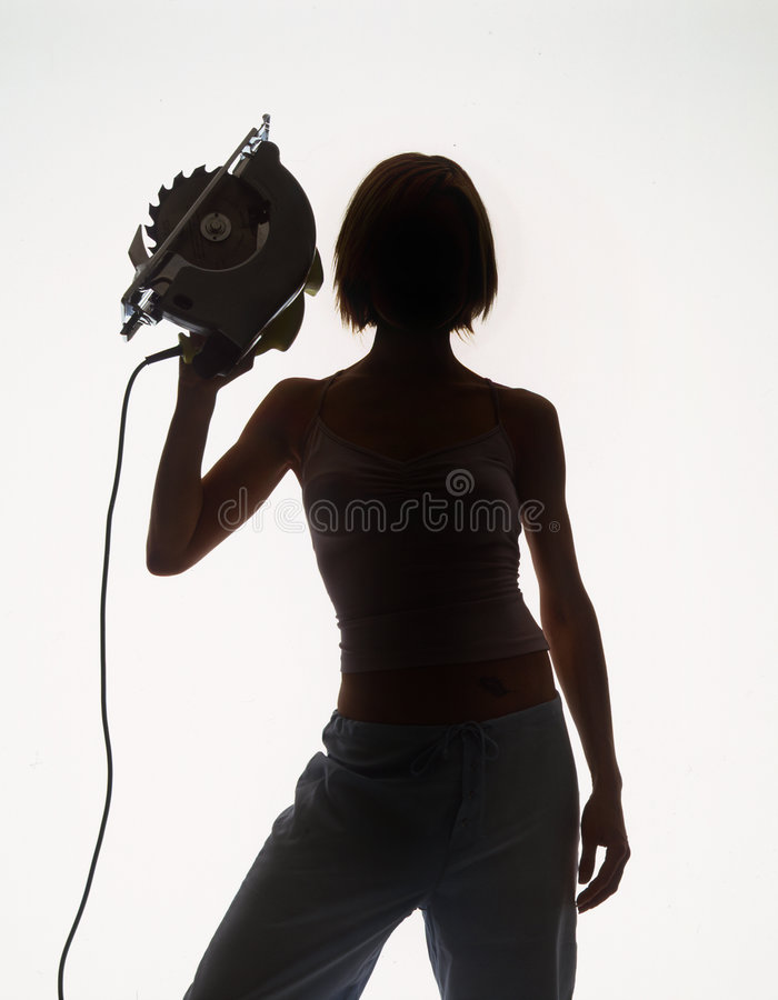Power tool babe royalty free stock images