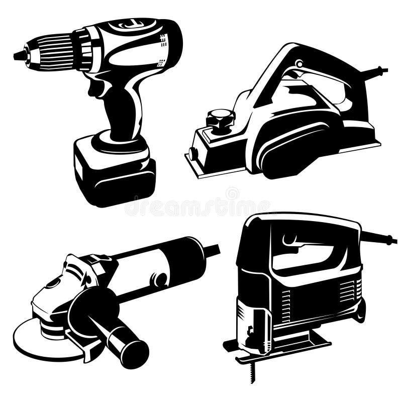 Power tools stock illustration