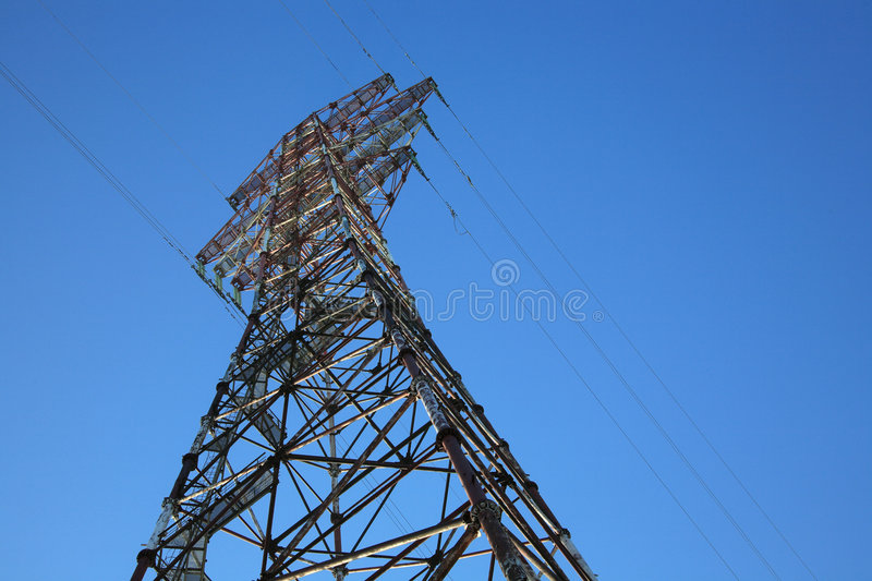 Download Power tower stock photo. Image of tower, high, blue, danger - 1960256