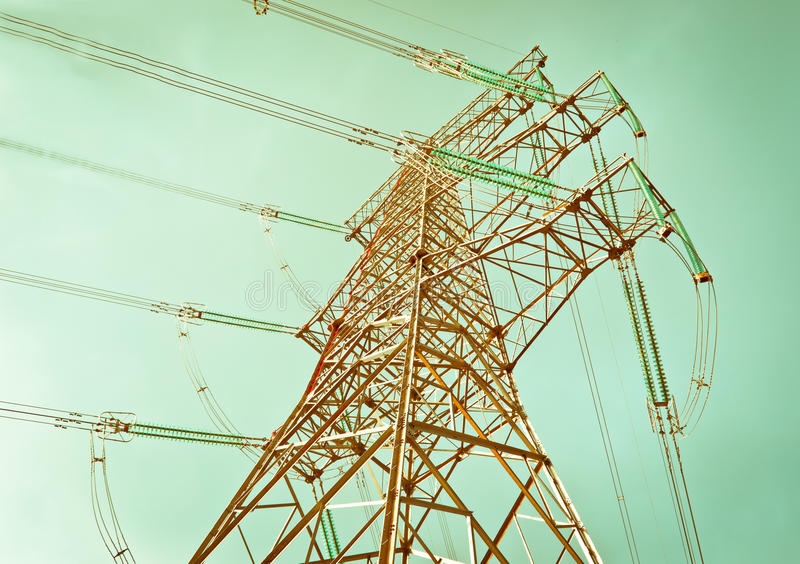 Download Power Tower stock image. Image of station, electricity - 22181371
