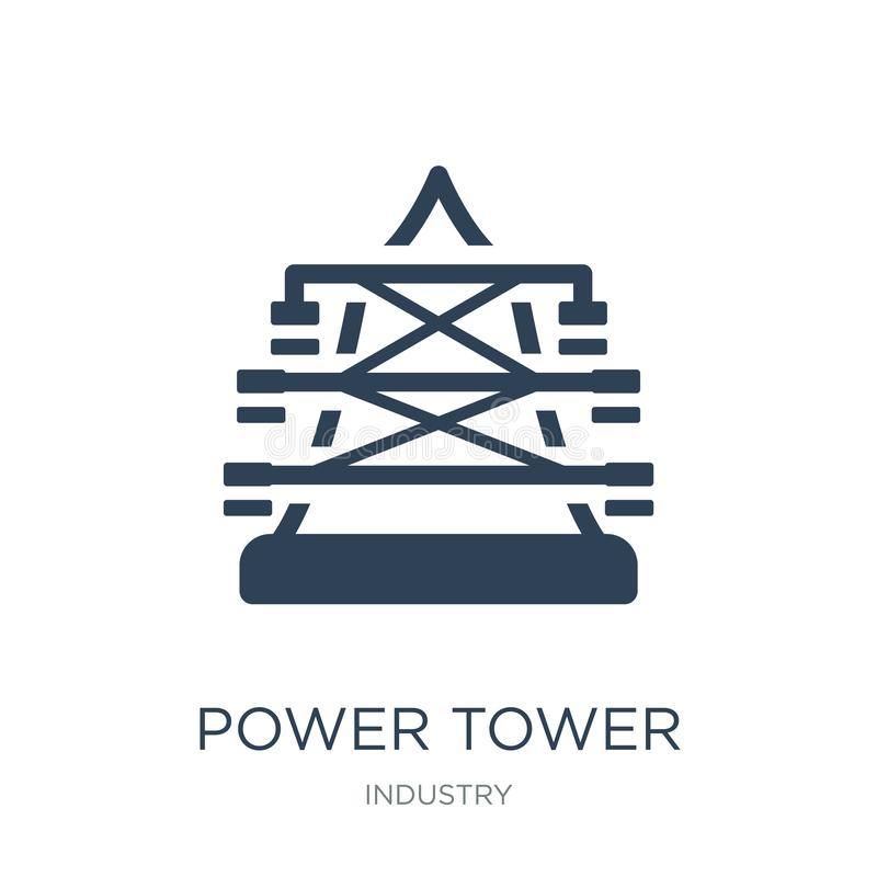 power tower icon in trendy design style. power tower icon isolated on white background. power tower vector icon simple and modern stock illustration