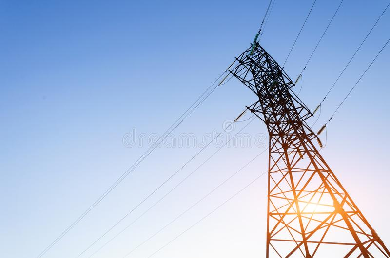 Power tower with line stock images