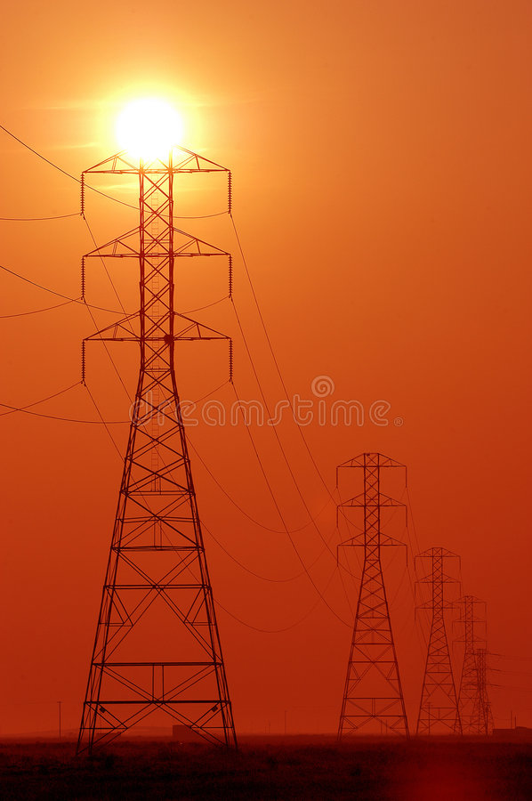 Power towers stock images