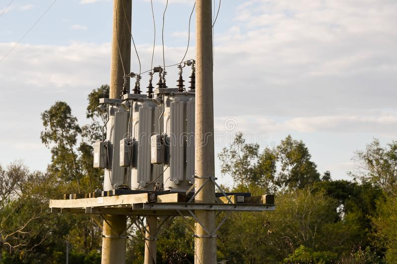 A set of three powerl electrical grid 02 royalty free stock photos