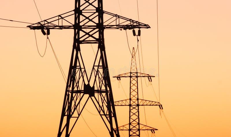 Power transmission line stock photos