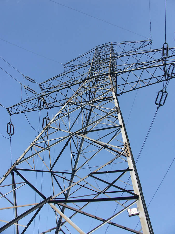 Power transmission pylon stock photography
