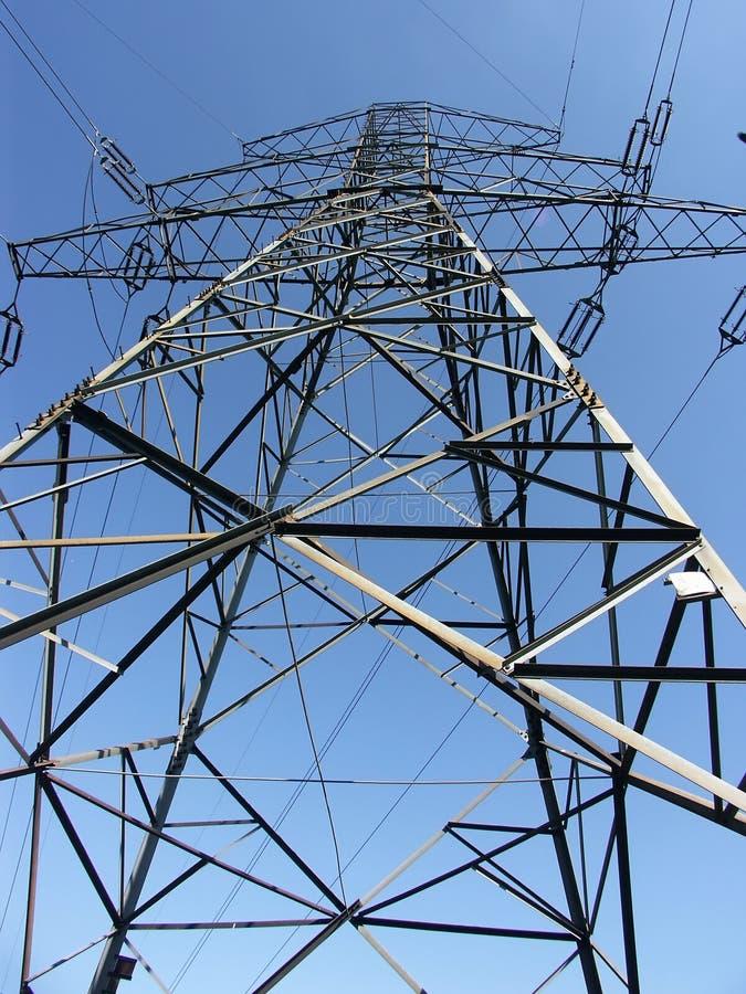 Power transmission pylon - looking up royalty free stock photos