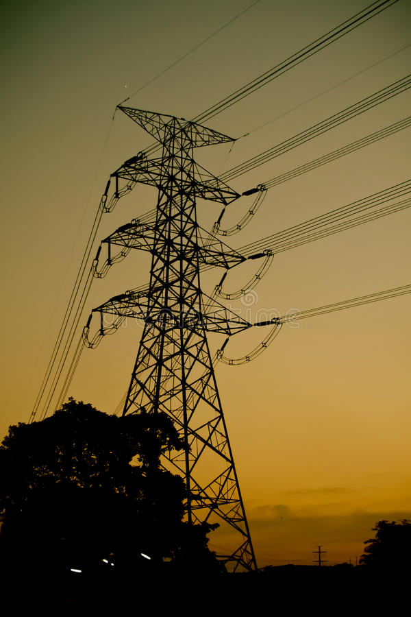 Free Power Transmission Tower Stock Images - 34513114