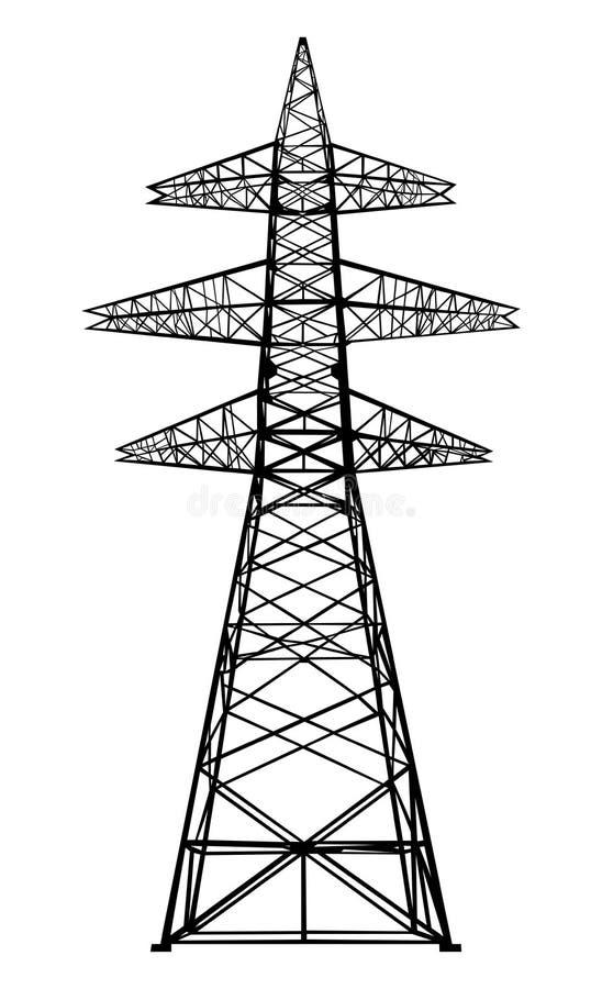Power transmission tower. vector illustration