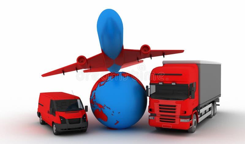 Power transport stock illustration
