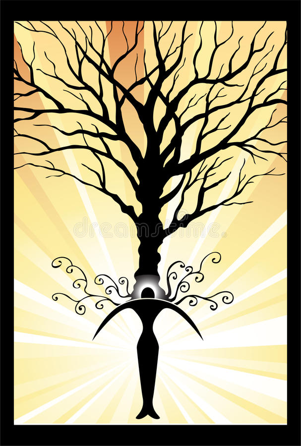 Download Power Tree stock vector. Image of peace, finds, discover - 9416866
