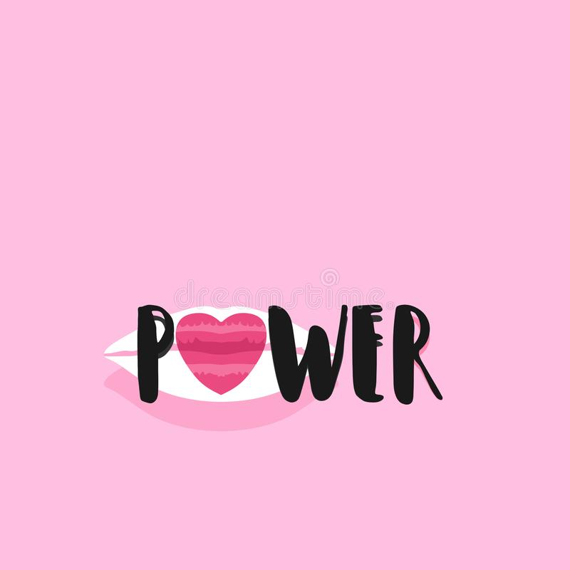 Power typography vector illustration. stock illustration