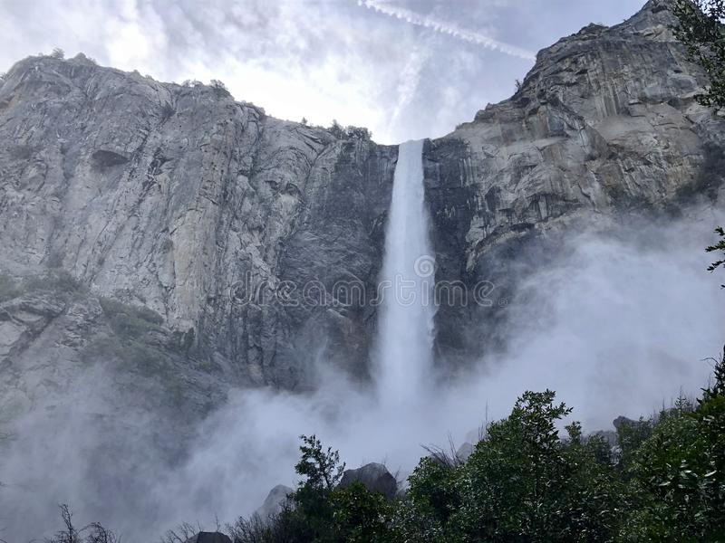 The mist and magic of Bridalveil Falls royalty free stock photos