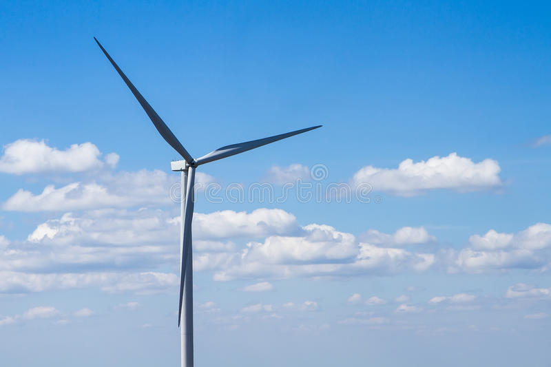 Power Of Wind Turbine Generating Electricity Clean Energy