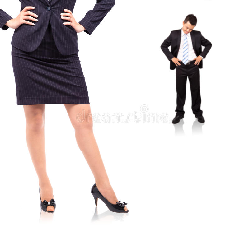 The power of woman royalty free stock image