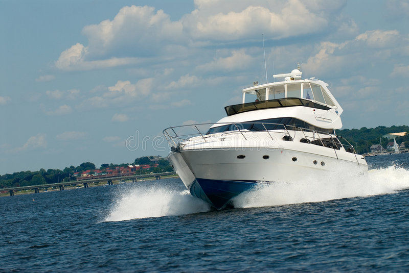 Power yacht stock image