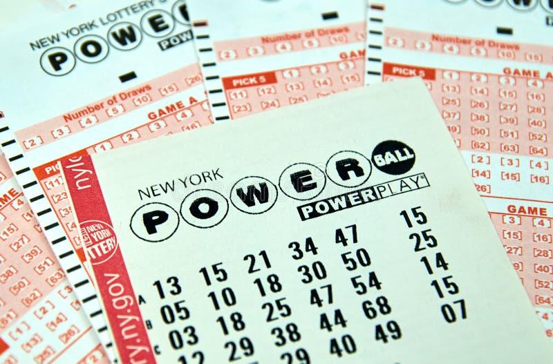 Powerball loteryjni bilety obrazy stock
