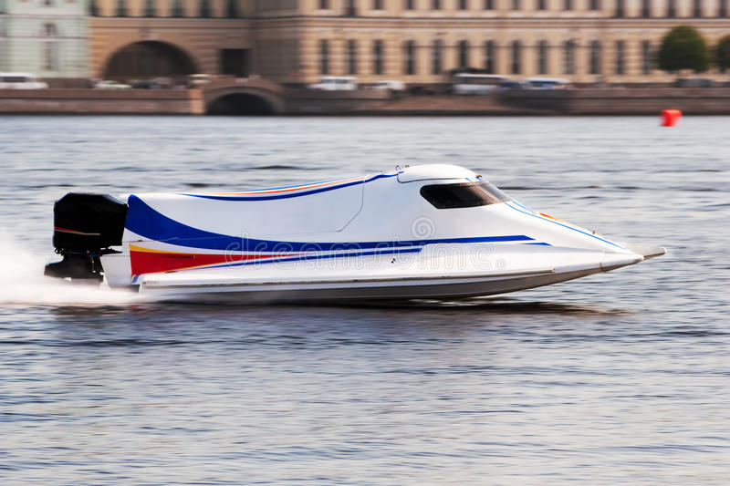 Download Powerboat on championship stock image. Image of spray - 19513345
