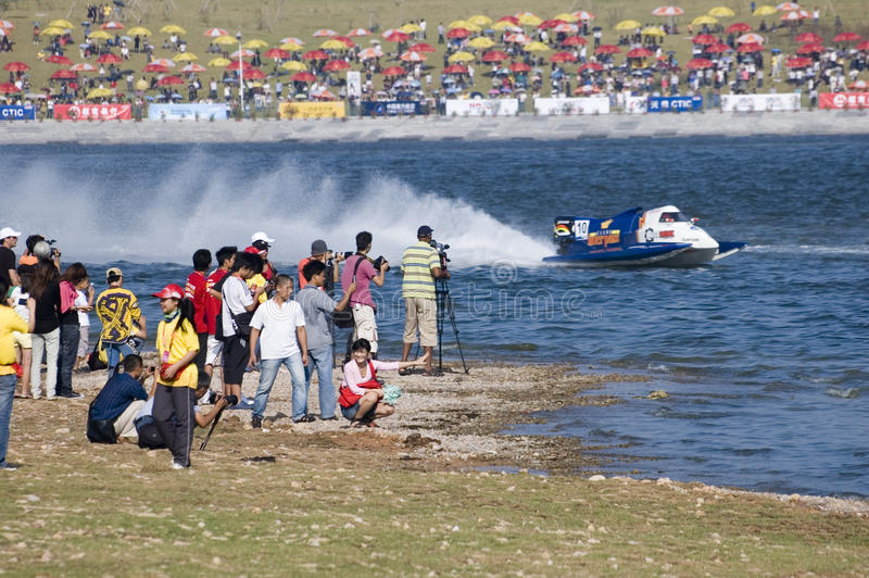 Powerboat Championship in China royalty free stock images