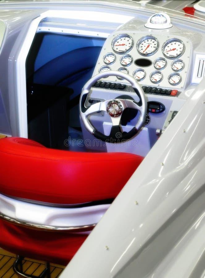 Powerboat controls stock image