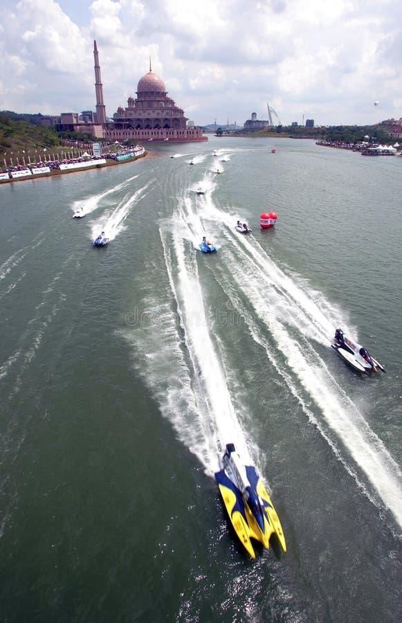 powerboat Putrajaya obraz royalty free